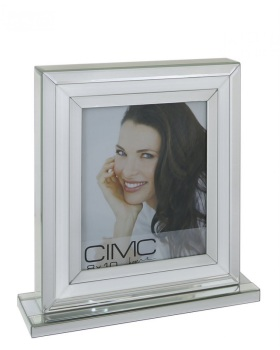 "White & Silver Mirror Photo frame 8"" x 10"""
