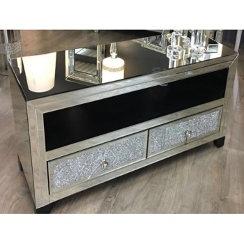 * Diamond Crush Sparkle Mirrored Milano TV Entertainment  - Item in stock