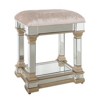 Athena Gold & Silver Mirrored Stool