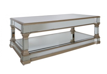 Athena Gold & Silver Mirrored Coffee Table