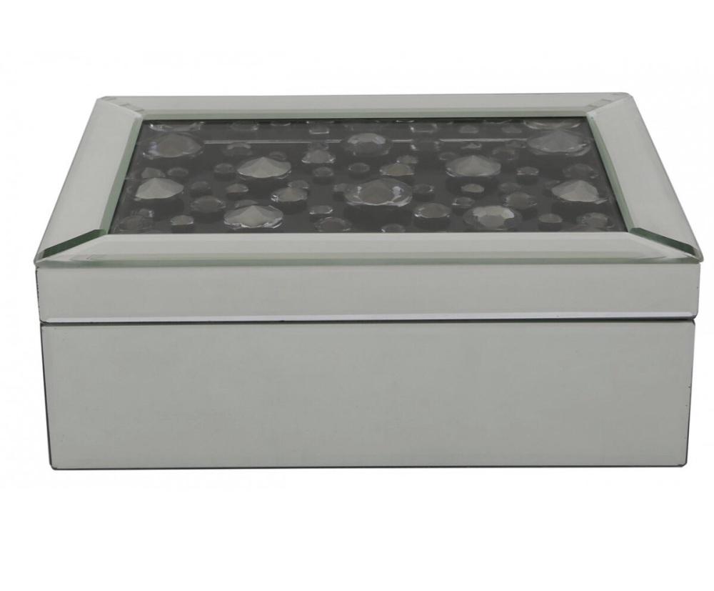 Black Jewel Floating Crystal Jewel Box 9.5cm x 19.5cm x 25.5cm
