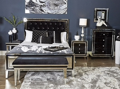 *Mirrored Manhatten Black Furniture