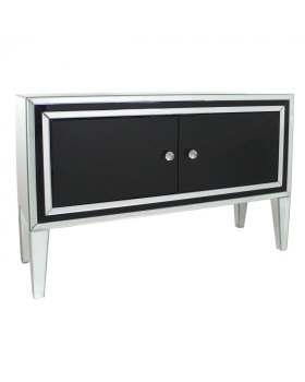 Seattle Black Mirrored 2 Door Sideboard