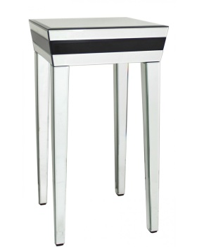 Seattle Black Mirrored Manhatten End Table