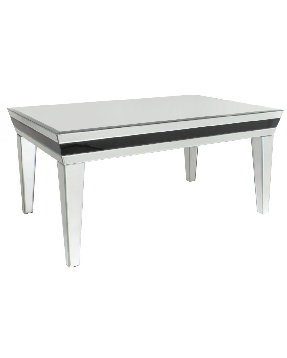 Seattle Black Trim Mirrored Coffee Table