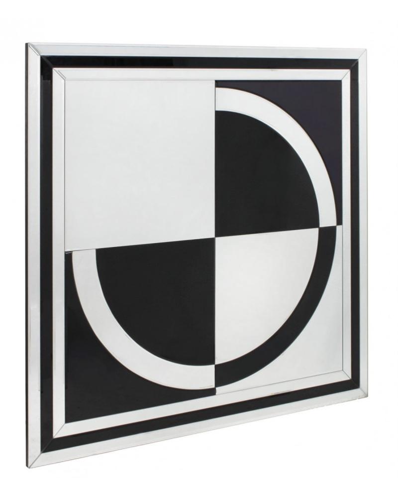 Black Mirrored Manhatten 3 Draw Sideboard