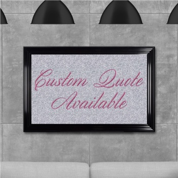 custom quote Sparkle glitter Art 68cm x 48cm