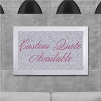 custom quote Sparkle glitter Art 68cm x 48cm