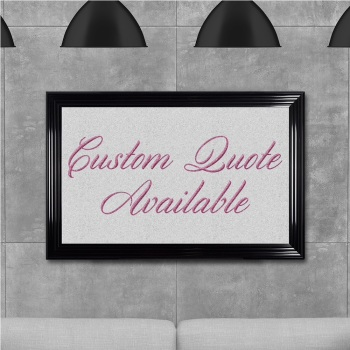 custom quote Sparkle glitter Art 114cm x 74cm