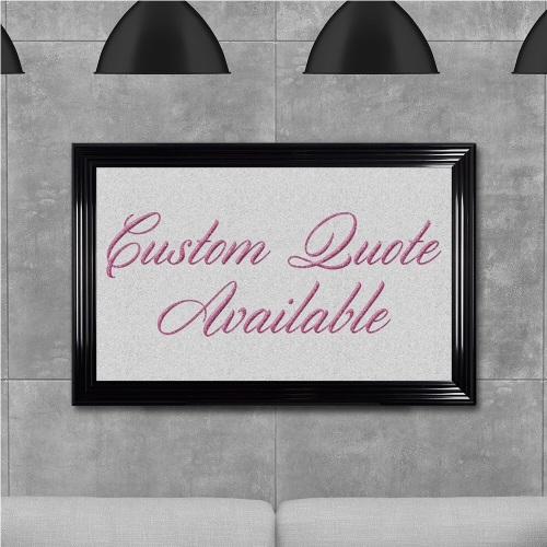 custom quote Sparkle glitter Art 114cm x 74cm