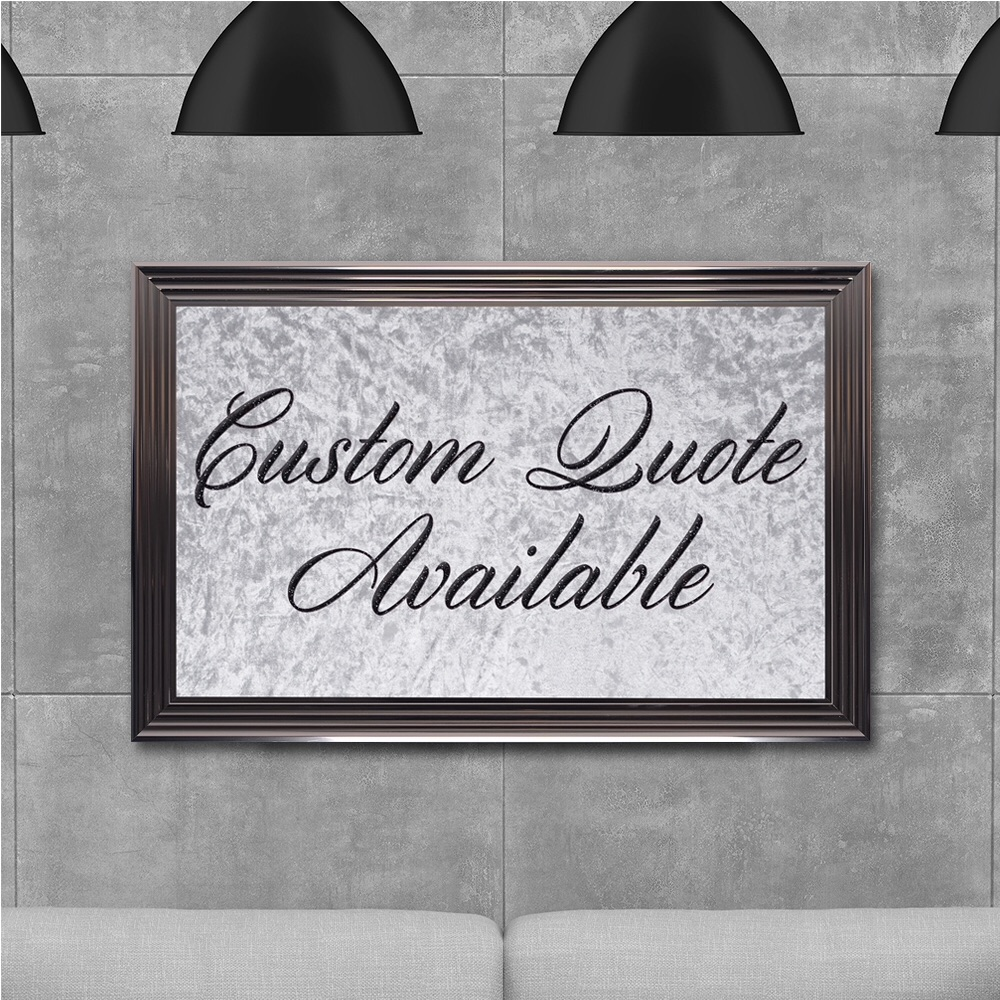 custom quote Sparkle glitter Artt 114cm x 74cm