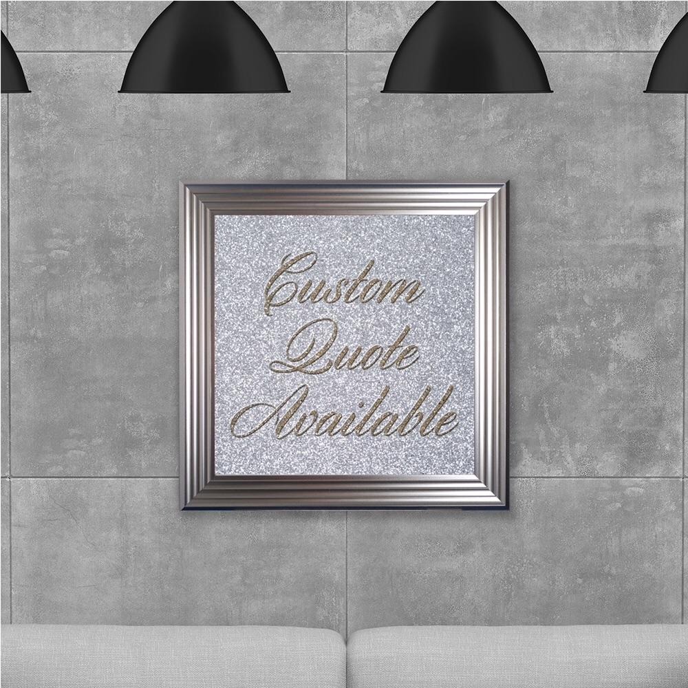 custom quote Sparkle glitter Art 75cm x 75cm