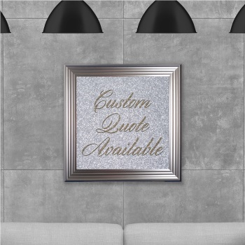 custom quote Sparkle glitter Art 75cm x 75cm