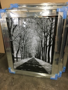 "Mirror framed art print "" Winter wonderland"" portrait"