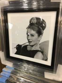 Mirror framed smoking Lady Wall Art