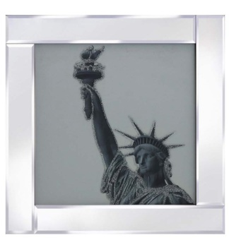 "Mirror framed art print ""Statue of Liberty"""