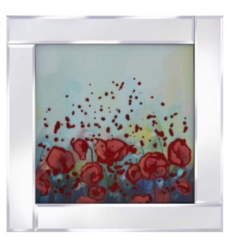 "Mirror framed art print ""Abstract Flowers"""