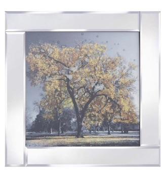 """Mirror framed art print """"Gold Tree"""""""