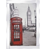 "Mirror framed art print ""Telephone Box"""