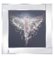 "Mirror framed art print ""Floating Angel"" 60cm x 60cm"