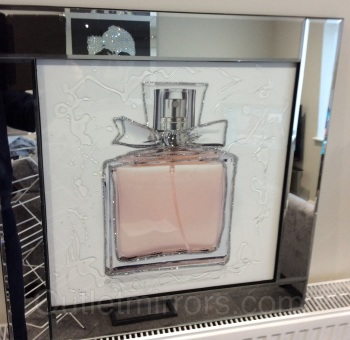 "Mirror framed art print ""Perfume Bottle"""