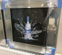** Grey Goose  Glitter Art Mirrored Frame ** 55cm x 55cm