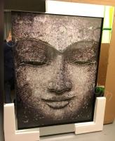 "Mirror framed art print ""Buddha"" 95cm x 75cm"