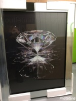 "Mirror framed ""Reflect Diamonds"" Wall Art  in stock for a quick delivery"
