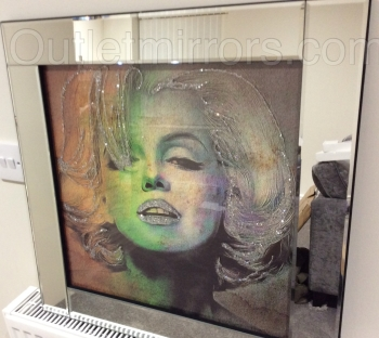 "Mirrored framed art print ""Glitter Monroe"""