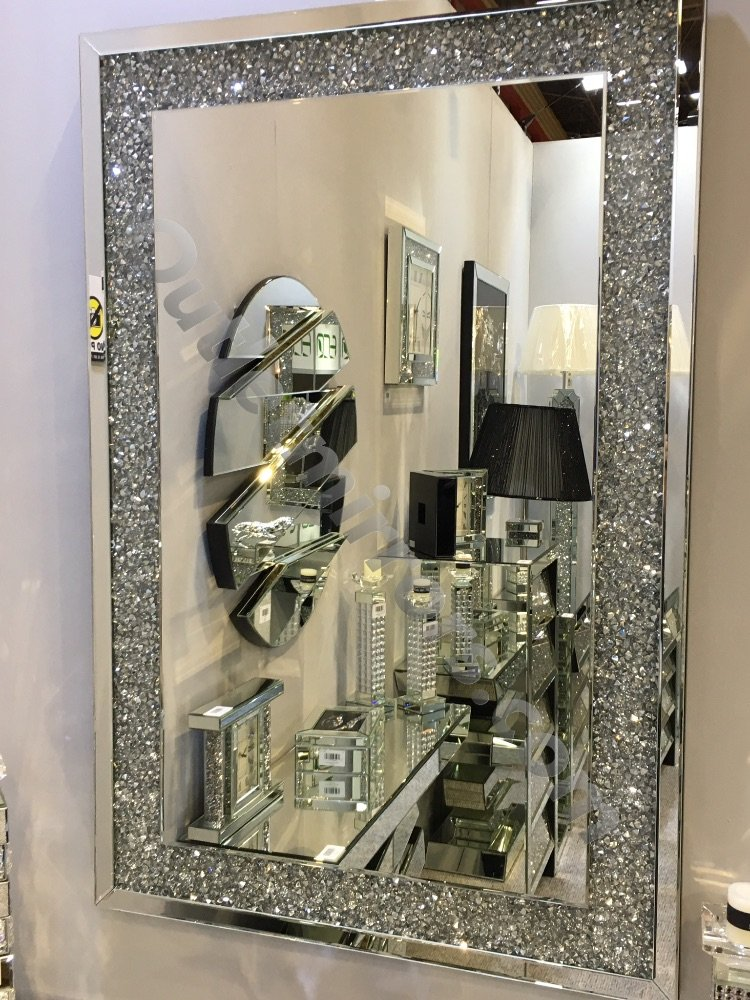 #Diamond Crush Crystal Sparkle Mirrors