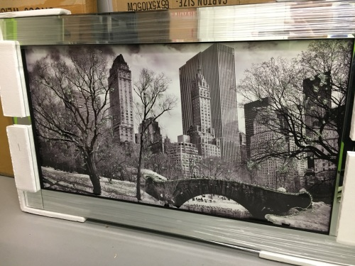 Mirror Framed Art Print Quot Central Park Autumn Falls Quot 100cm