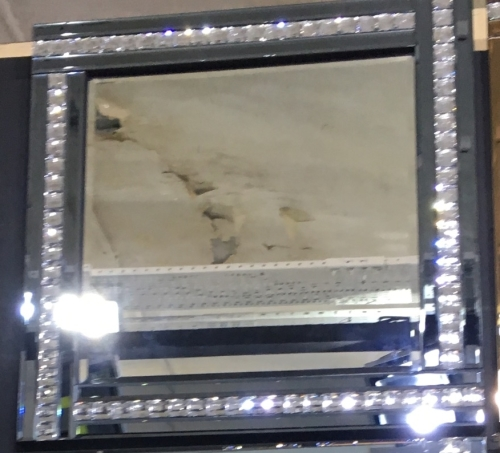 Frameless Bevelled Crystal Border Smoked Grey Mirror 60cm x 60cm