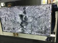 "Mirror framed art print ""Gapstow Bridge Winter"" 100cm x 60cm"