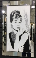 """Mirror framed """"60's Pose Lady"""" Wall Art"""