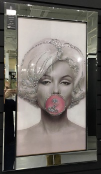 "Mirror framed ""Monroe Bubble"" Wall Art  in stock for a quick delivery"