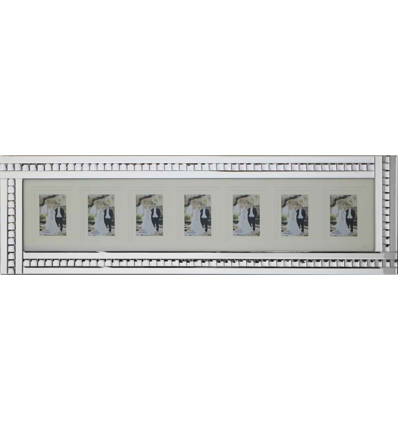 Crystal Border Mirrored Photo Frame 100cm x 35cm