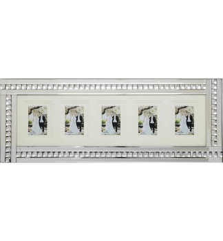 Crystal Border Mirrored Photo Frame  80cm x 35cm