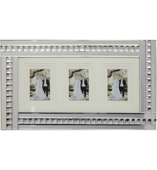 Crystal Border Mirrored Photo Frame 60cm x 35cm