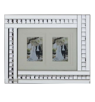 Crystal Border Mirrored Photo Frame  50cm x 35cm