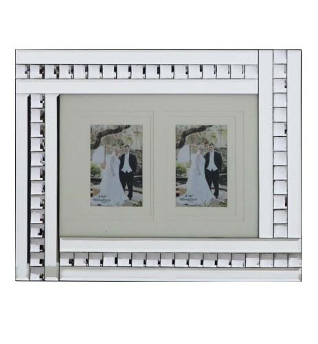 Crystal Border  Mirrored Photo Frame large 50cm x 35cm