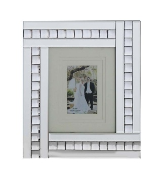 Crystal Border Mirrored Photo Frame  40cm x 35cm