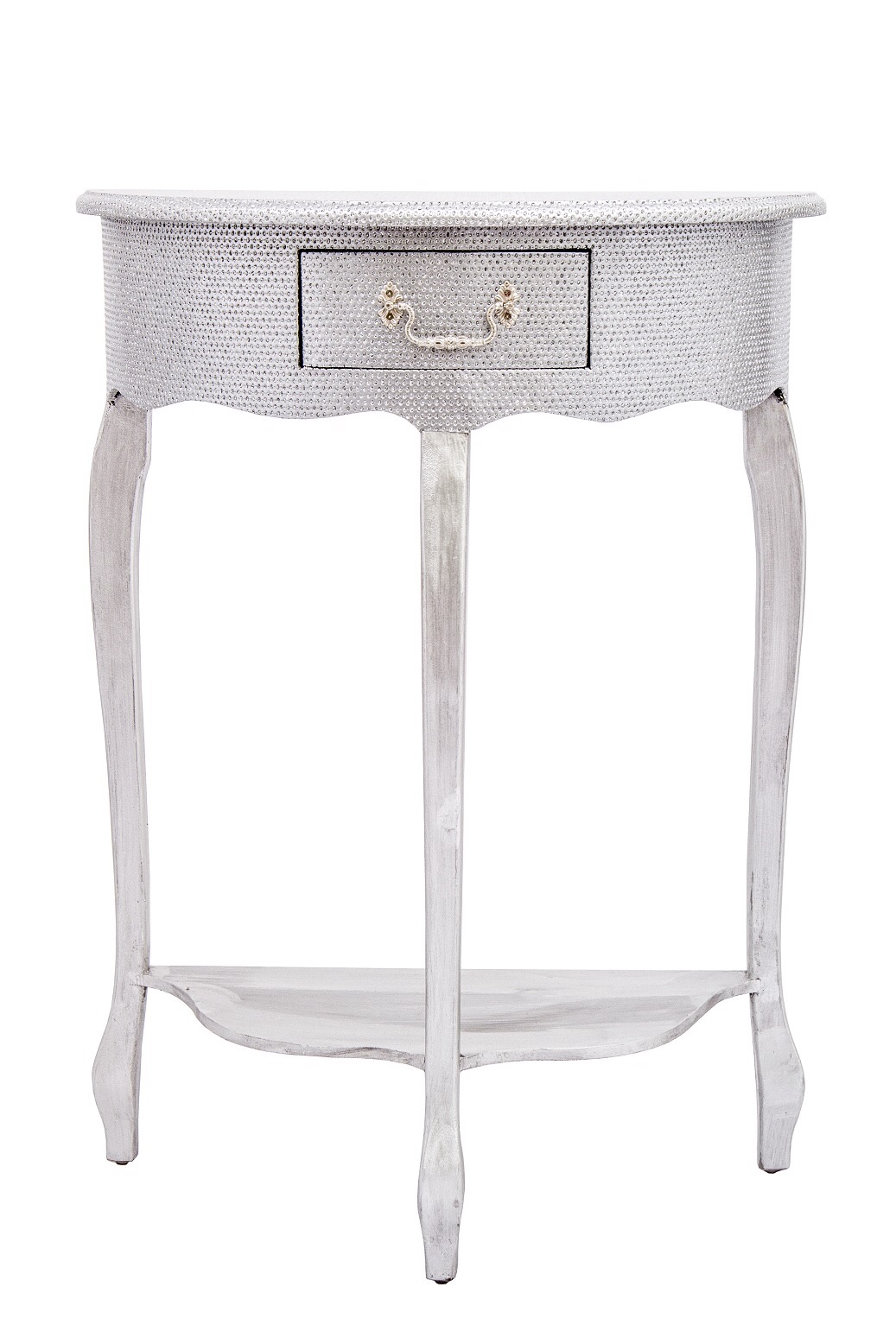 Glitter 1 Draw Console Table in Silver