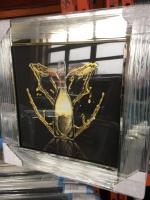 ** Don Perignon Glitter Art Mirrored Frame ** 55cm x 55cm