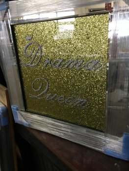 "Mirror framed Sparkle Glitter Art ""Drama Queen"""