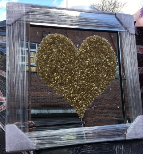 Mirror framed Sparkle Glitter Art