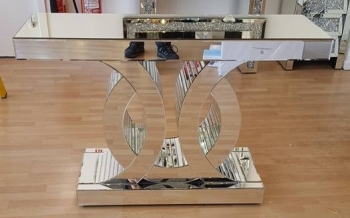 Doubler Curve Mirrored Coco Console Table