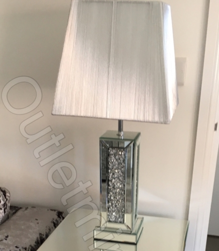 Crush Crystals Sparkle Mirrored Table Lamp