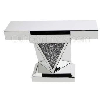 *Diamond Crush Sparkle Crystal Vida Console Table with draw