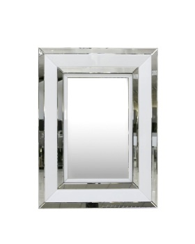 Atlanta  White Rectangular Wall Mirror 102cm x 76cm