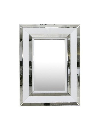 White Rectangular Wall Mirror 102cm x 76cm